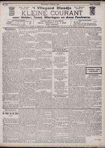 Vliegend blaadje : nieuws- en advertentiebode voor Den Helder 1904-02-03
