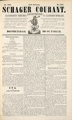 Schager Courant 1881-10-20
