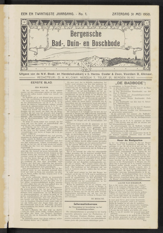 Bergensche bad-, duin- en boschbode 1930-05-31