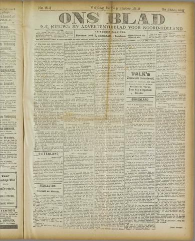 Ons Blad : katholiek nieuwsblad voor N-H 1919-09-12
