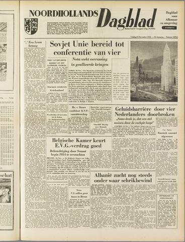 Noordhollands Dagblad : dagblad voor Alkmaar en omgeving 1953-11-27