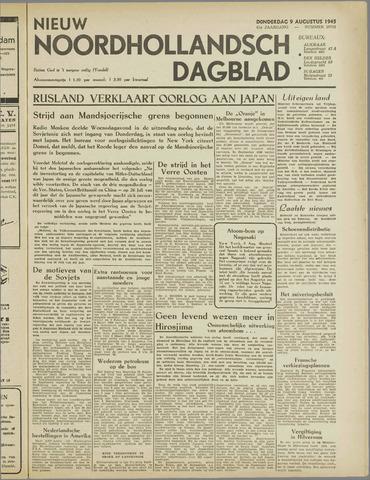Nieuw Noordhollandsch Dagblad : voor Alkmaar en omgeving 1945-08-09