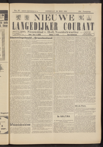 Nieuwe Langedijker Courant 1931-05-26