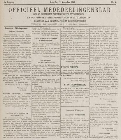 Mededeelingenblad Wieringermeer en Wieringen 1942-11-21