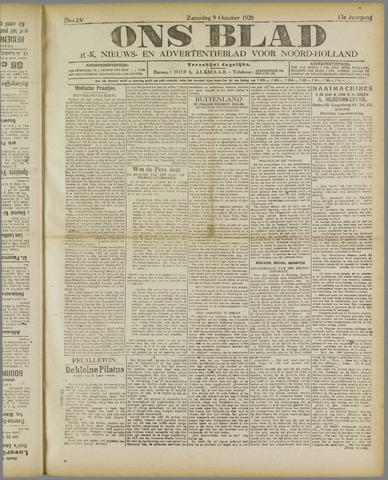 Ons Blad : katholiek nieuwsblad voor N-H 1920-10-09