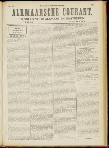 Alkmaarsche Courant 1911-11-10