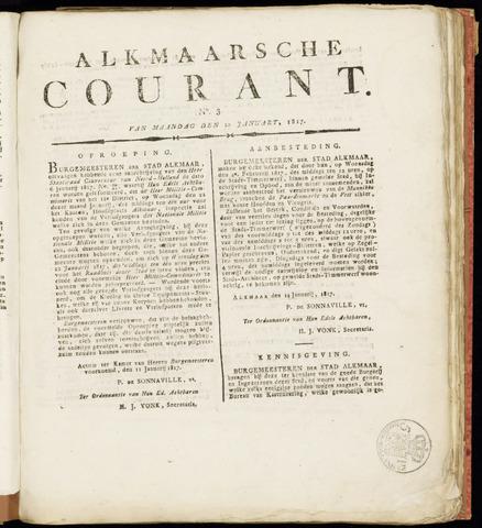 Alkmaarsche Courant 1817-01-20