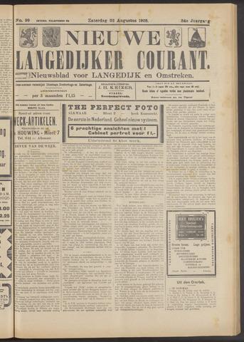 Nieuwe Langedijker Courant 1925-08-22