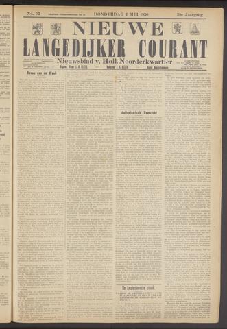 Nieuwe Langedijker Courant 1930-05-01