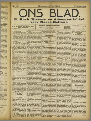 Ons Blad : katholiek nieuwsblad voor N-H 1908-06-03