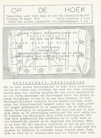 Op De Hoek, weekblad voor Akersloot 1962-03-30