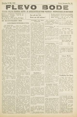 Flevo-bode: nieuwsblad voor Wieringen-Wieringermeer 1946-05-25