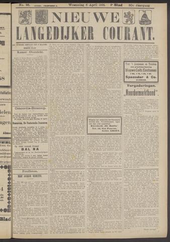 Nieuwe Langedijker Courant 1921-04-06