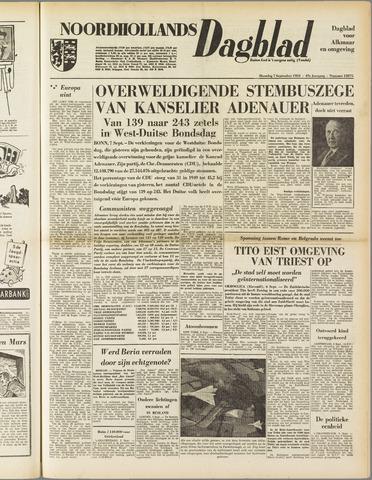 Noordhollands Dagblad : dagblad voor Alkmaar en omgeving 1953-09-07