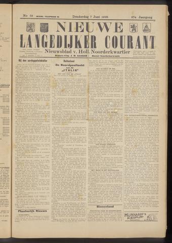Nieuwe Langedijker Courant 1928-06-07