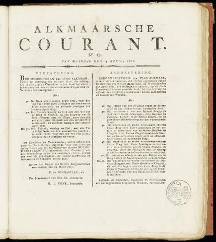 Alkmaarsche Courant 1817-04-14