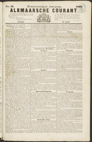 Alkmaarsche Courant 1869-04-18