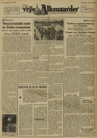 De Vrije Alkmaarder 1947-07-10