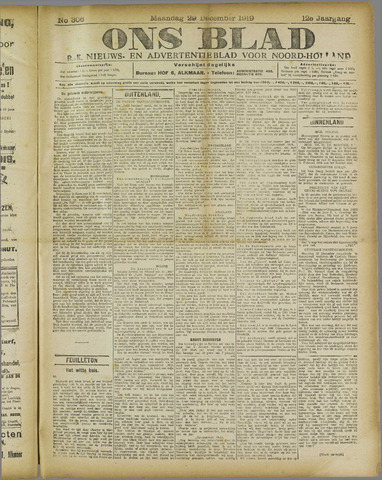 Ons Blad : katholiek nieuwsblad voor N-H 1919-12-29