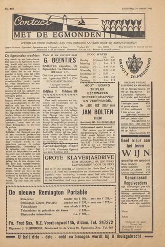 Contact met de Egmonden 1961-01-19