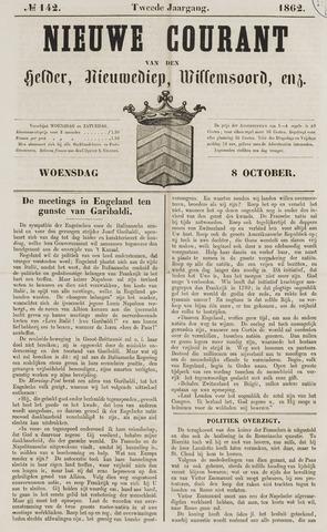 Nieuwe Courant van Den Helder 1862-10-08