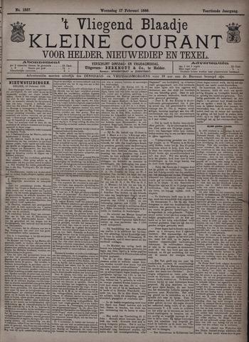 Vliegend blaadje : nieuws- en advertentiebode voor Den Helder 1886-02-17