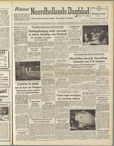 Nieuw Noordhollandsch Dagblad : voor Alkmaar en omgeving 1951-02-21