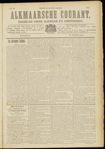 Alkmaarsche Courant 1914-02-17
