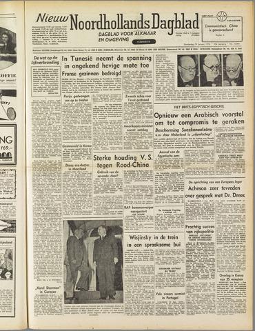 Nieuw Noordhollandsch Dagblad : voor Alkmaar en omgeving 1952-01-24