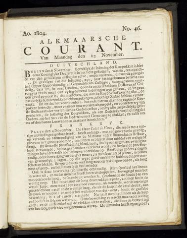 Alkmaarsche Courant 1804-11-12