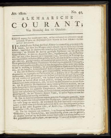Alkmaarsche Courant 1802-10-11