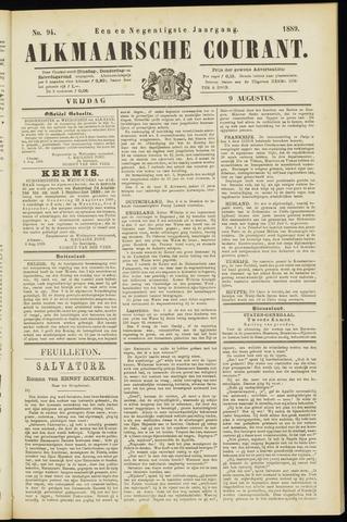 Alkmaarsche Courant 1889-08-09