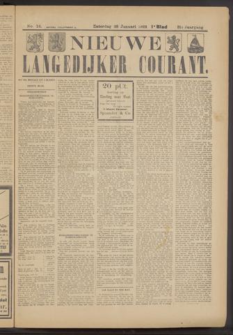 Nieuwe Langedijker Courant 1922-01-28