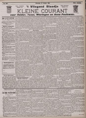 Vliegend blaadje : nieuws- en advertentiebode voor Den Helder 1902-10-22