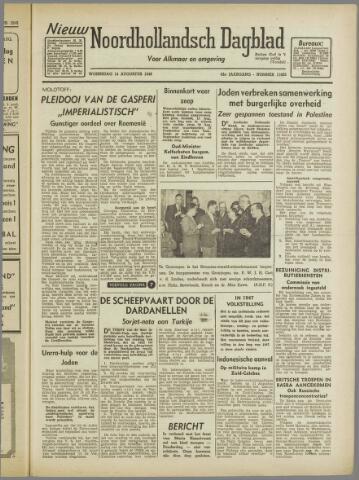 Nieuw Noordhollandsch Dagblad : voor Alkmaar en omgeving 1946-08-14