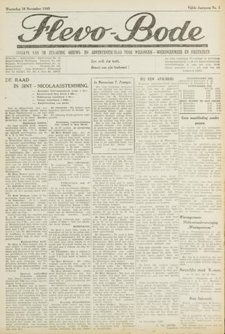 Flevo-bode: nieuwsblad voor Wieringen-Wieringermeer 1949-11-30