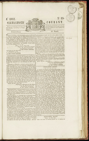 Alkmaarsche Courant 1844-03-25