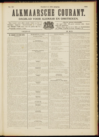 Alkmaarsche Courant 1909-05-28