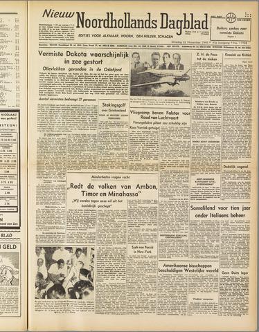 Nieuw Noordhollandsch Dagblad : voor Alkmaar en omgeving 1949-11-22