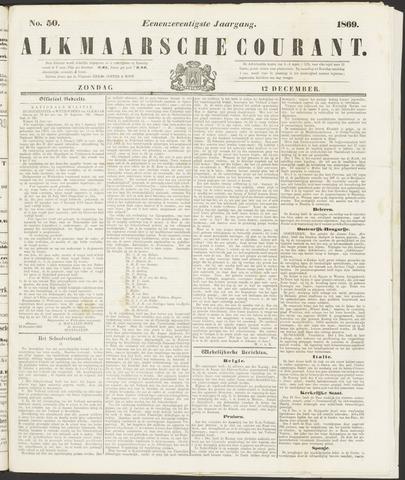 Alkmaarsche Courant 1869-12-12
