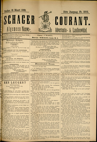Schager Courant 1889-03-31