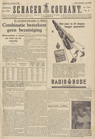 Schager Courant 1936