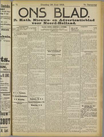 Ons Blad : katholiek nieuwsblad voor N-H 1913-06-24
