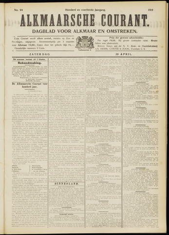Alkmaarsche Courant 1912-04-20