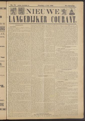 Nieuwe Langedijker Courant 1922-07-04