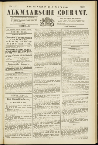 Alkmaarsche Courant 1889-10-25