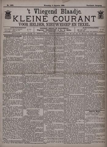 Vliegend blaadje : nieuws- en advertentiebode voor Den Helder 1886-08-04