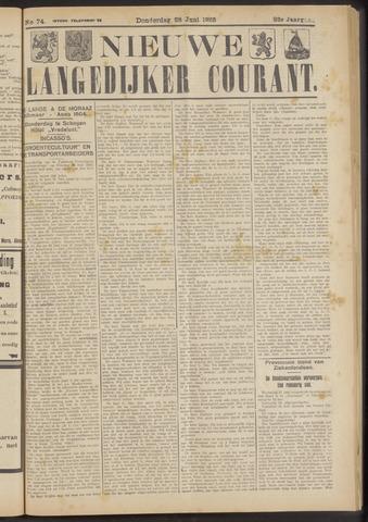 Nieuwe Langedijker Courant 1923-06-28