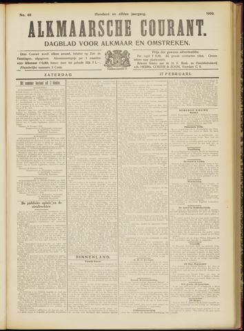 Alkmaarsche Courant 1909-02-27