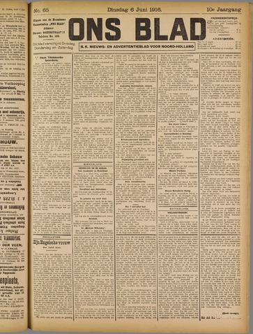 Ons Blad : katholiek nieuwsblad voor N-H 1916-06-06